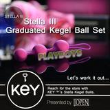 美國KEY-Stella III 斯蒂娜凱格爾運動球+後庭拉珠(三球)