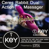 美國KEY-Ceres Rabbit克瑞斯頑皮兔多頻雙震按摩棒