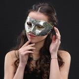 仿古鎧甲眼罩(銀色)