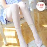 玩愛繽紛連褲絲襪(大圓點)白色