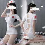 深夜診療 鏤背護士服
